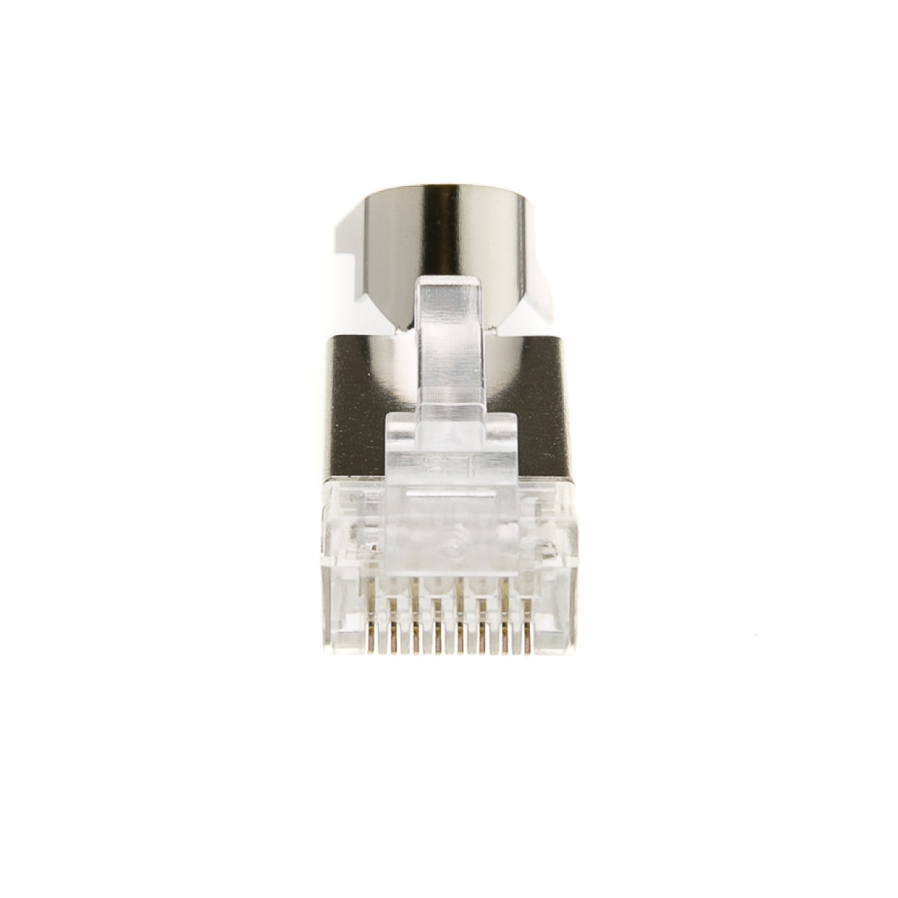 Platinum Tools Rj45 Cat6a Shielded Connector For Solid Cable