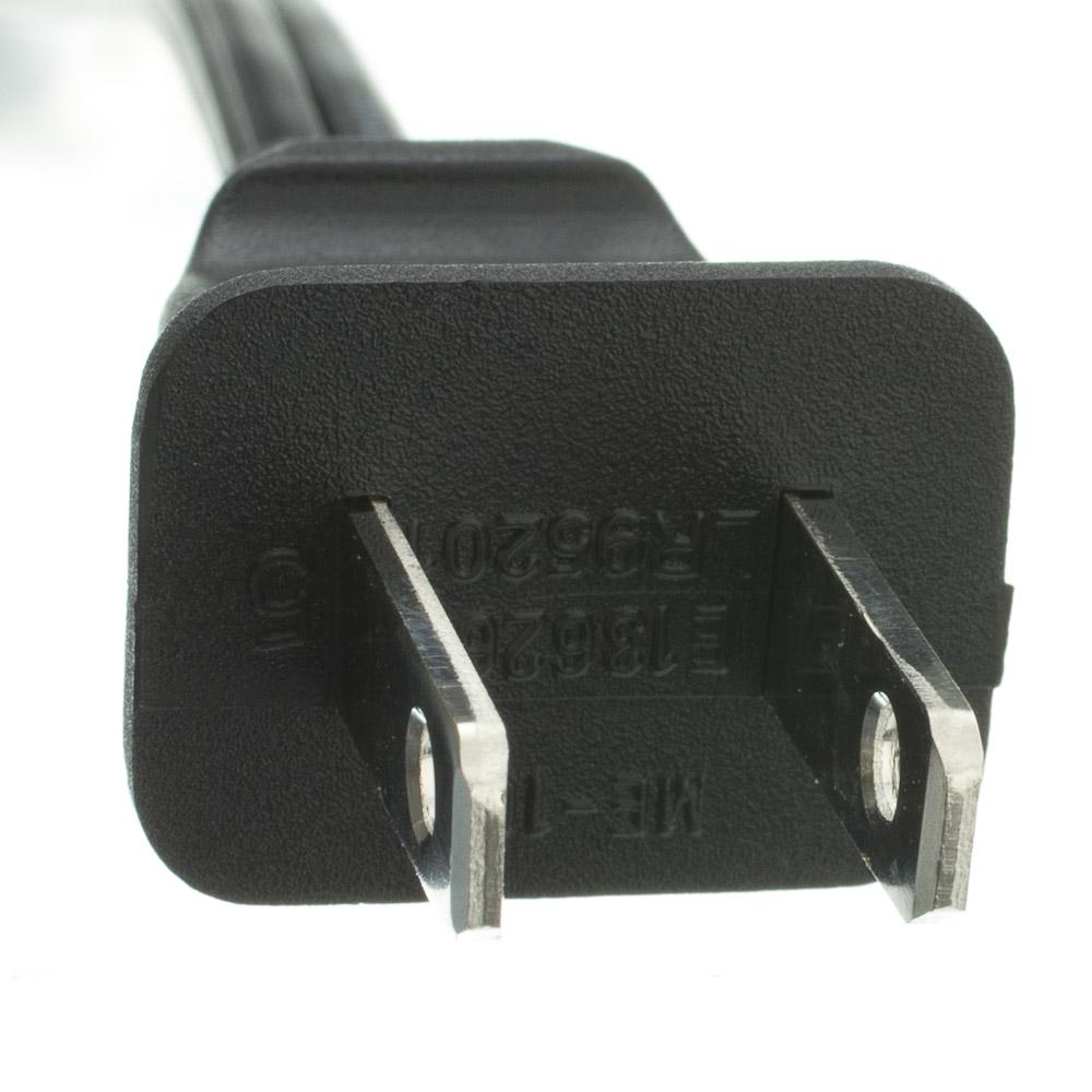 6ft Notebook Laptop Power Cord Non Polarized