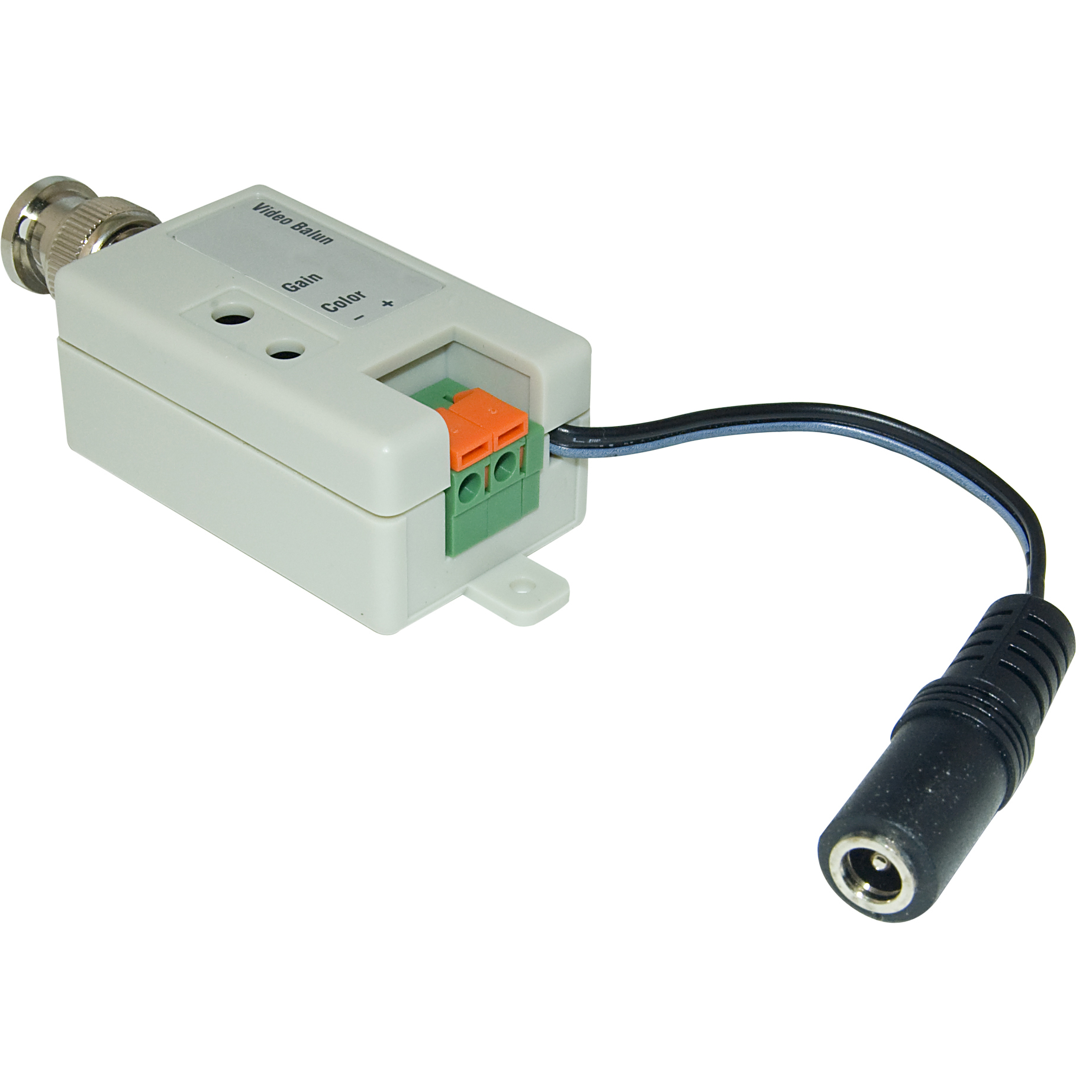 active video balun for monitor dvr side male bnc connector active video balun male bnc connector to bare wire terminals monitor dvr side