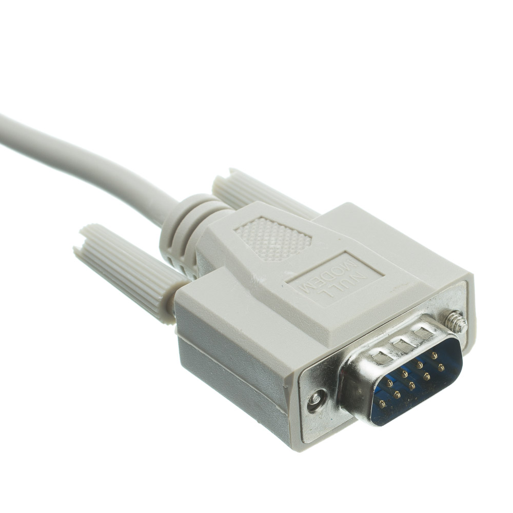 10ft Null Modem Cable Ul Db9 Male To Db9 Female