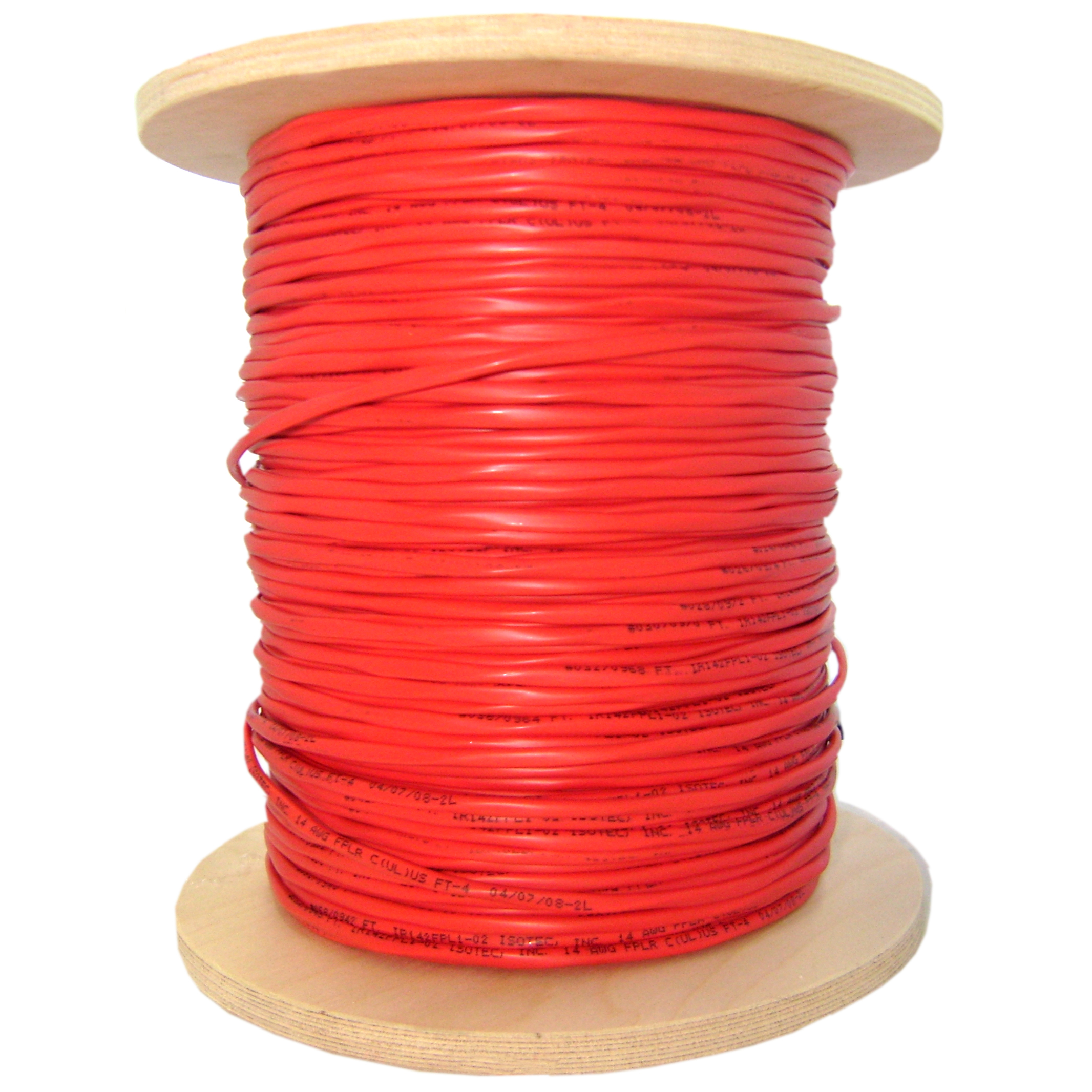 1000ft Plenum Red Fire Alarm Cable, 12/2 Solid, FPLP