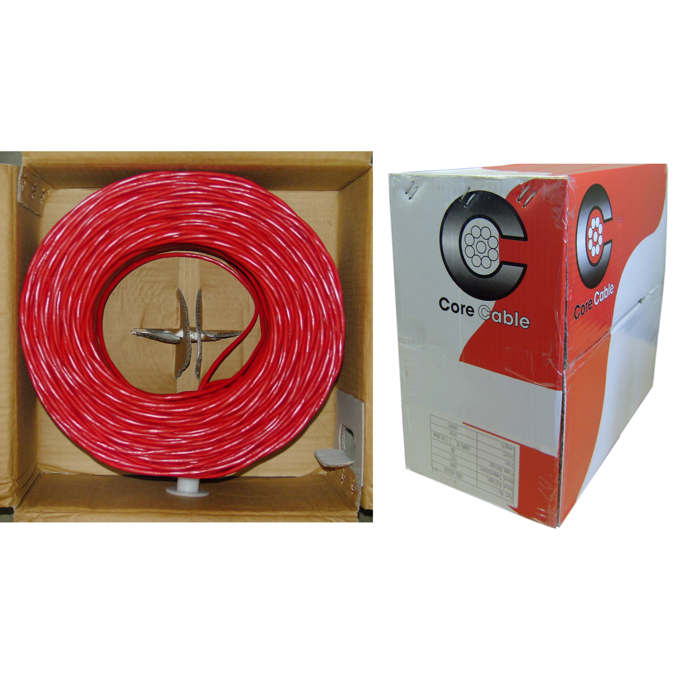 1000ft 14/2 Red FPLR Fire Alarm/Security Cable, Solid