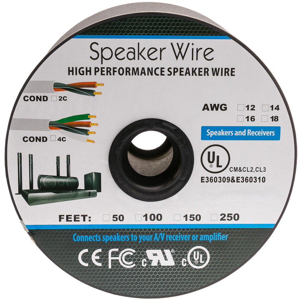 speaker cable white pure copper cm inwall rated 162