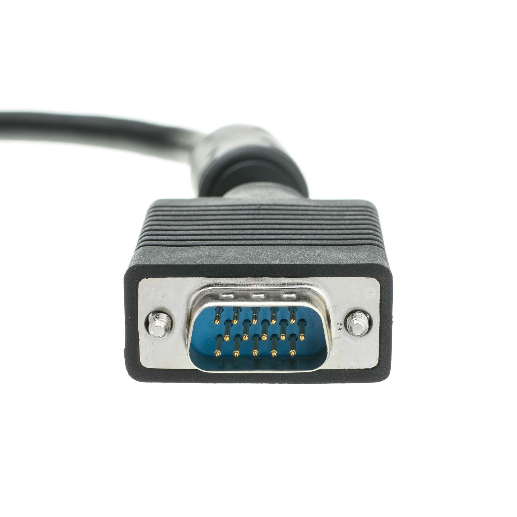 Super VGA cable Male to Female W//Ferrite core 10 feet
