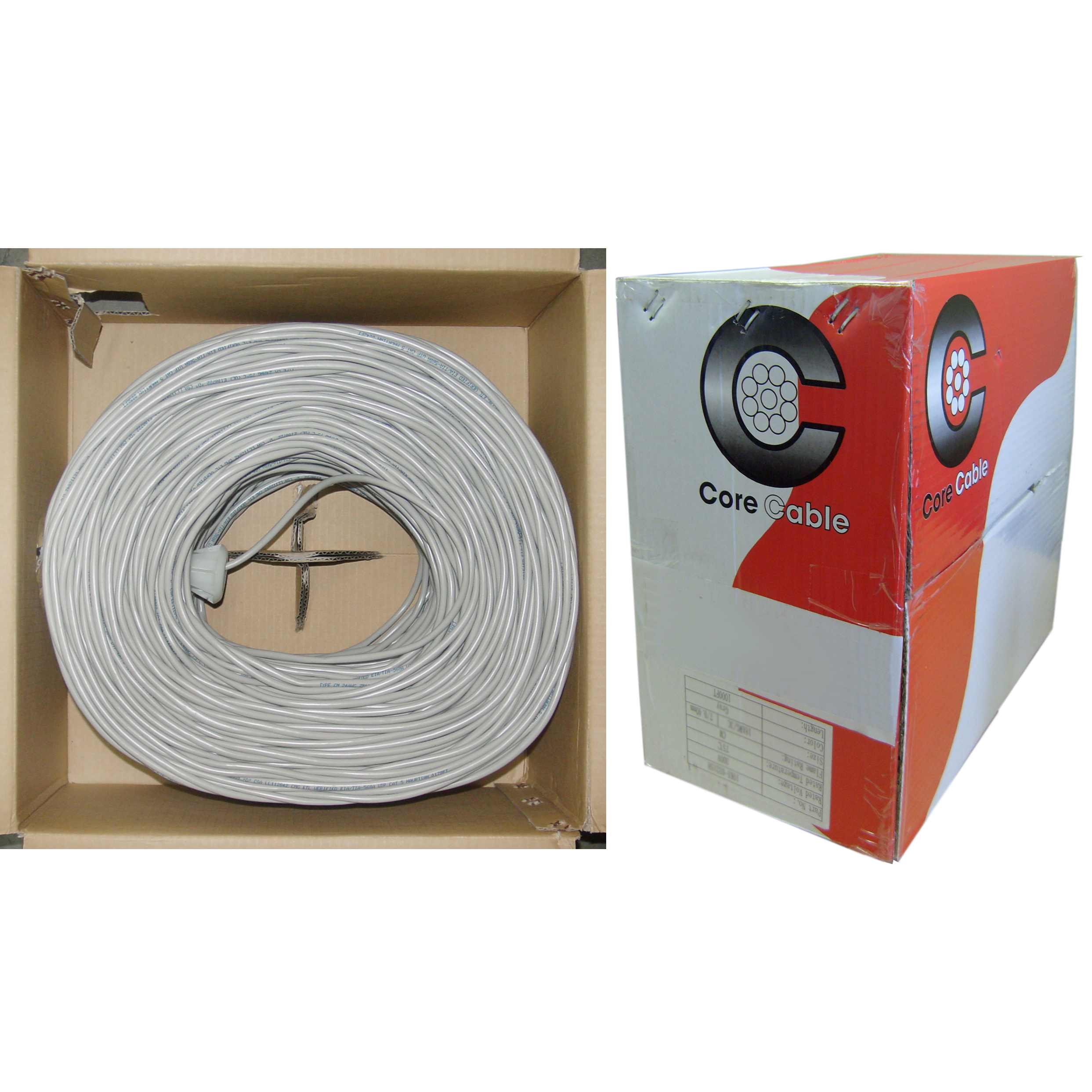 1000ft - 14/2 Stranded Security Cable, CMR, Gray - Pullbox