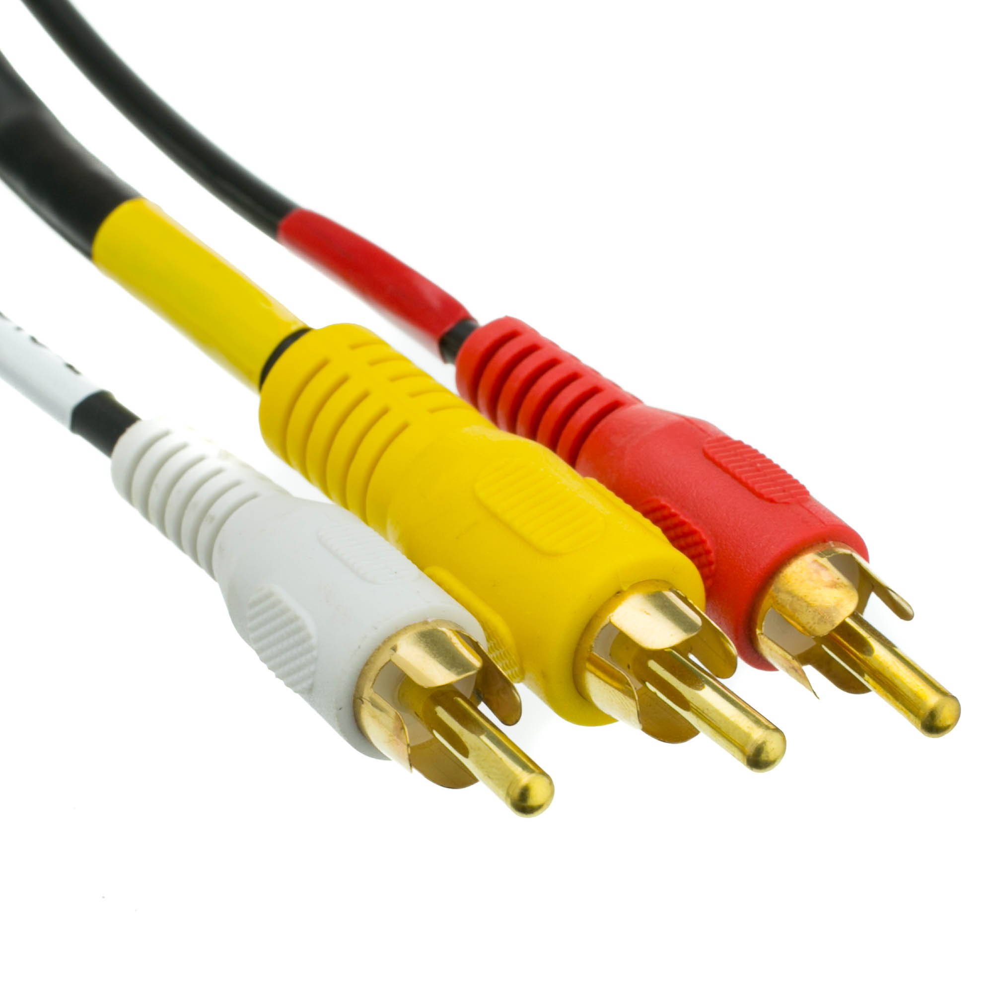 3ft Stereo Vcr Rca Cable Rca Rg59 Video Gold Plated