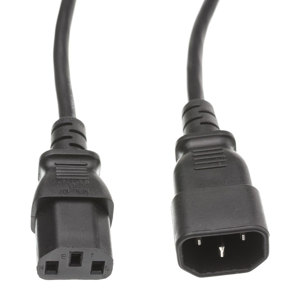 1ft Computer Monitor Power Extension Cord C13 To C14