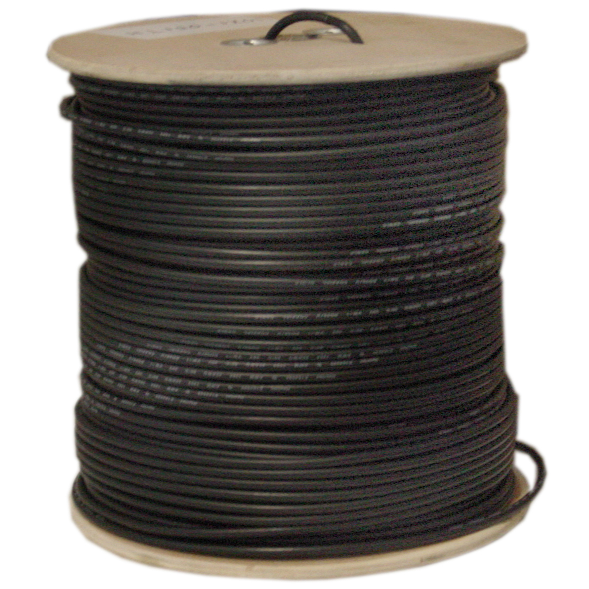 500ft Black RG59 18/2 Siamese Cable Spool, Copper Conductor