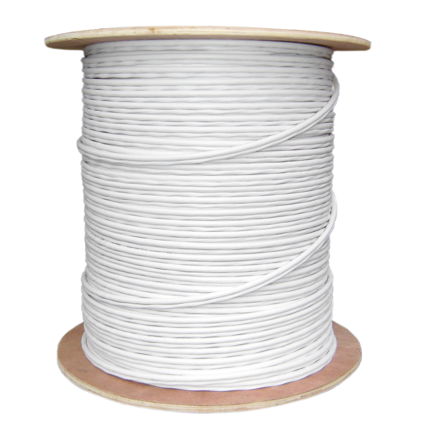 1,000ft Bulk RG59 18/2 Siamese Cable Pullbox, Copper - White