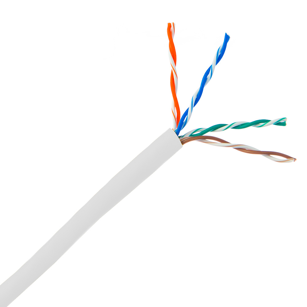 1000ft Plenum White Cat6 Solid Ethernet Cable Phone Wiring Bulk Utp Unshielded Twisted Pair
