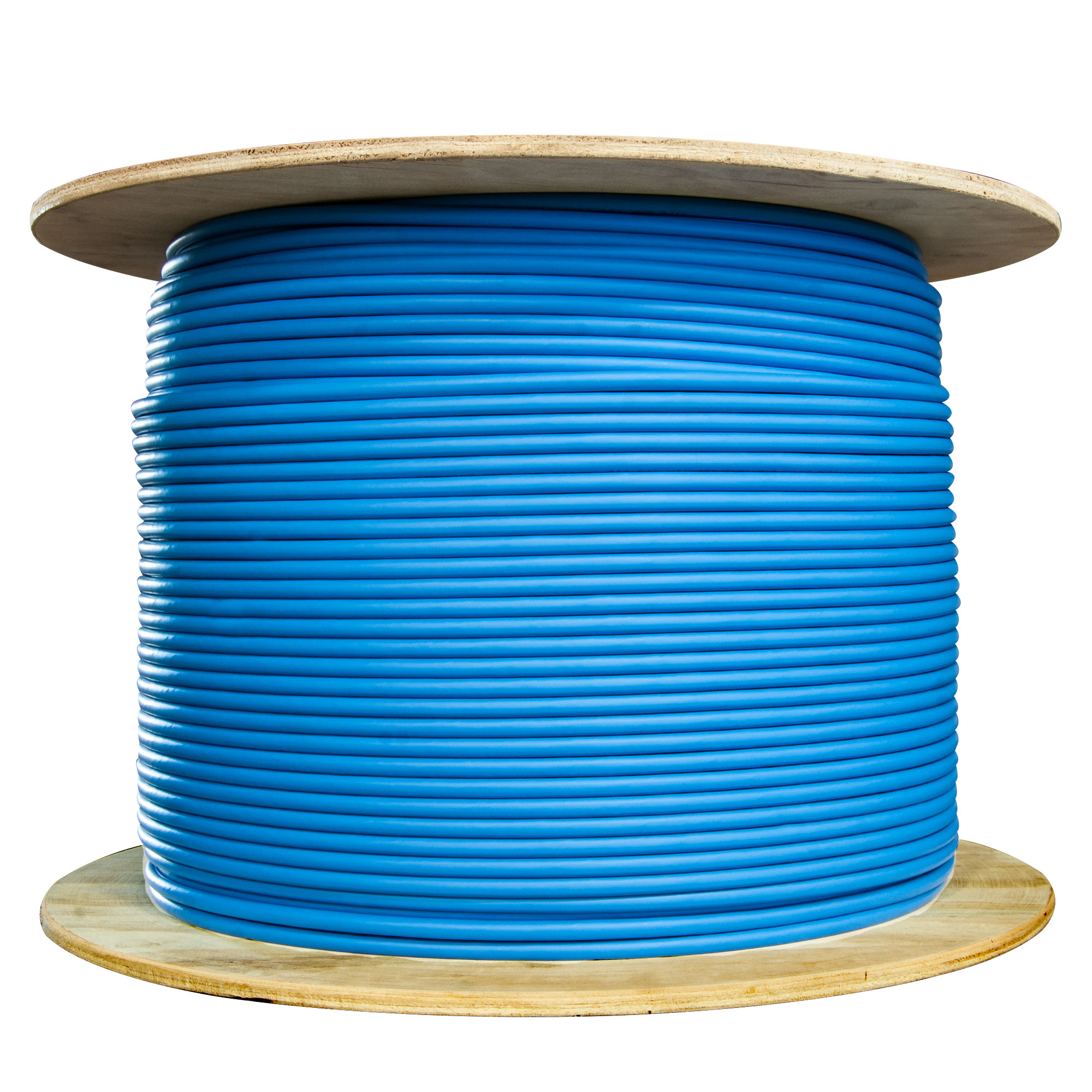 1000ft Solid Spool Bulk Cat5e Blue Ethernet Cable