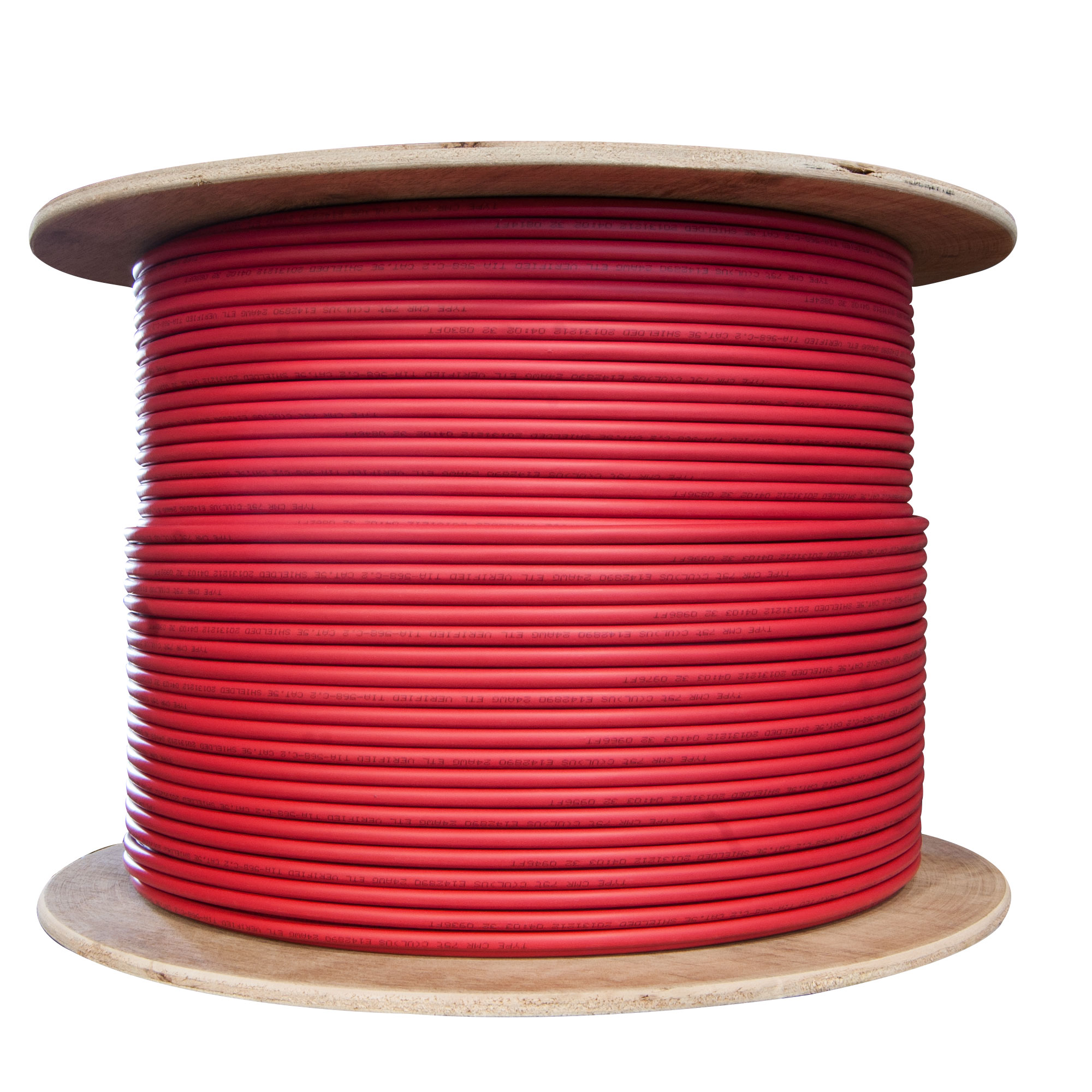 1000ft Solid Spool Cat5e Red Ethernet Cable Cablewholesale