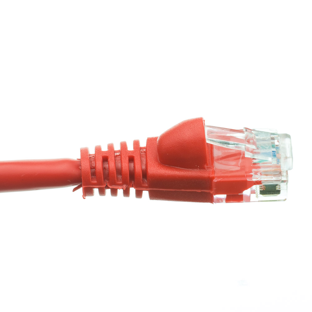 50 Foot Cat6 Red Ethernet Patch Cable Snagless Molded Boot