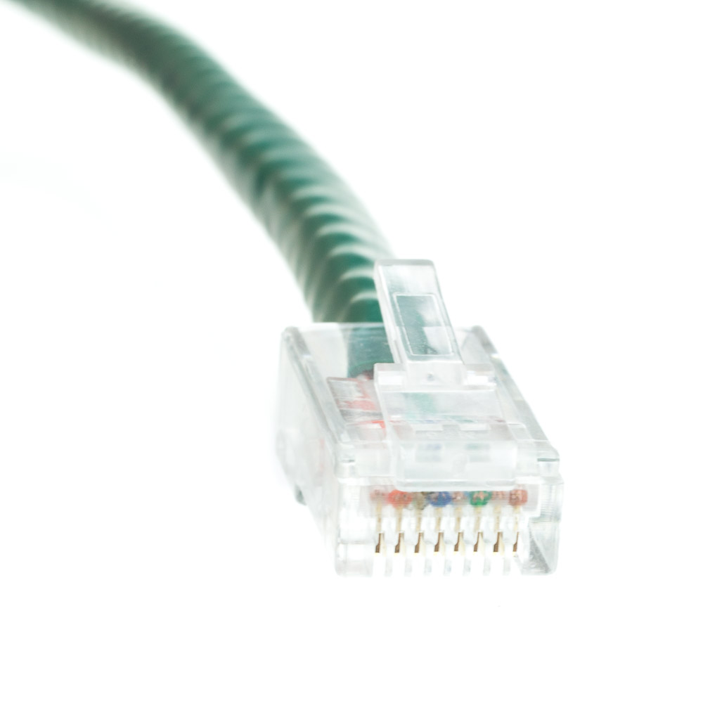 10ft Cat6 Green Ethernet Patch Cable Bootless