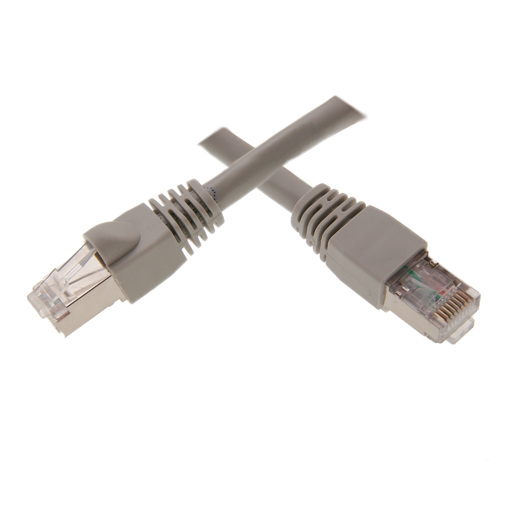 1ft Shielded Cat6 Gray Ethernet Patch Cable Snagless