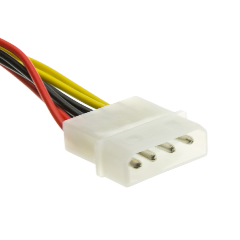 8 Inch 4 Pin Molex To Floppy Power Y Cable