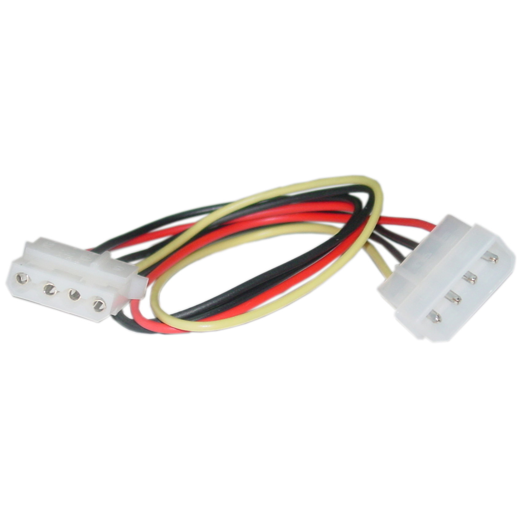 12 inch, 4 Pin, Molex Extension Cable