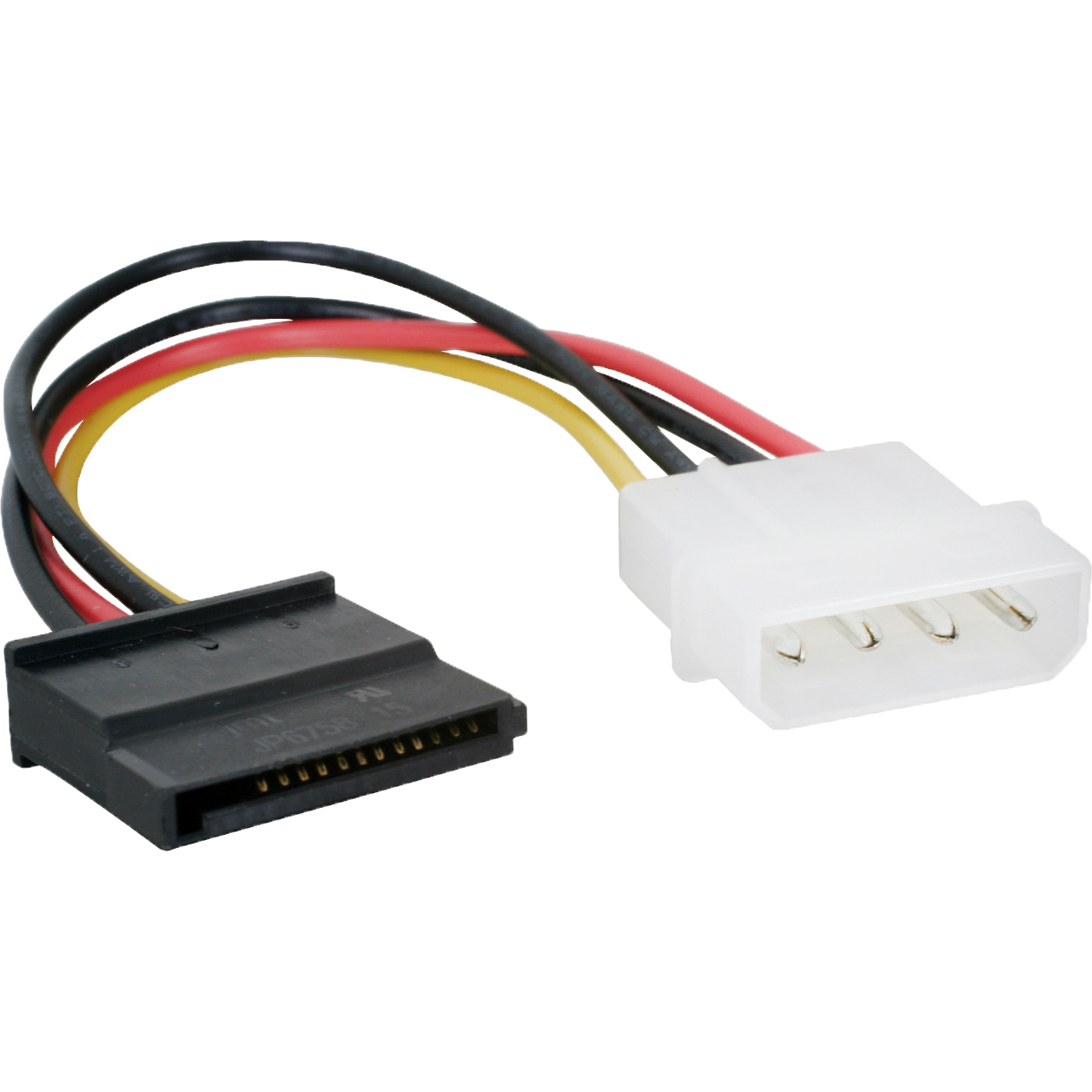 11w3 08206 6 inch molex to sata power cable 4 pin molex to sata power molex to sata wiring diagram at bakdesigns.co