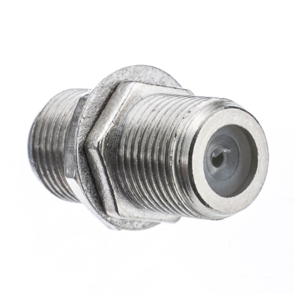 Cable Tv Fittings : Cable tv satellite coaxial coupler female f pin