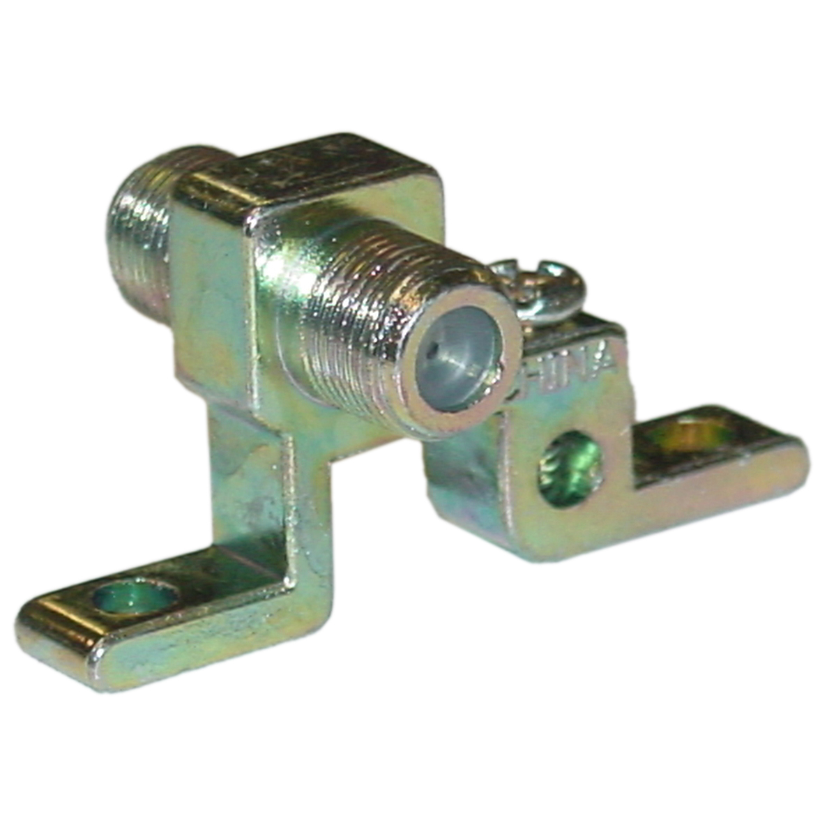 F Pin Coaxial Grounding Block For Cable And Satelite
