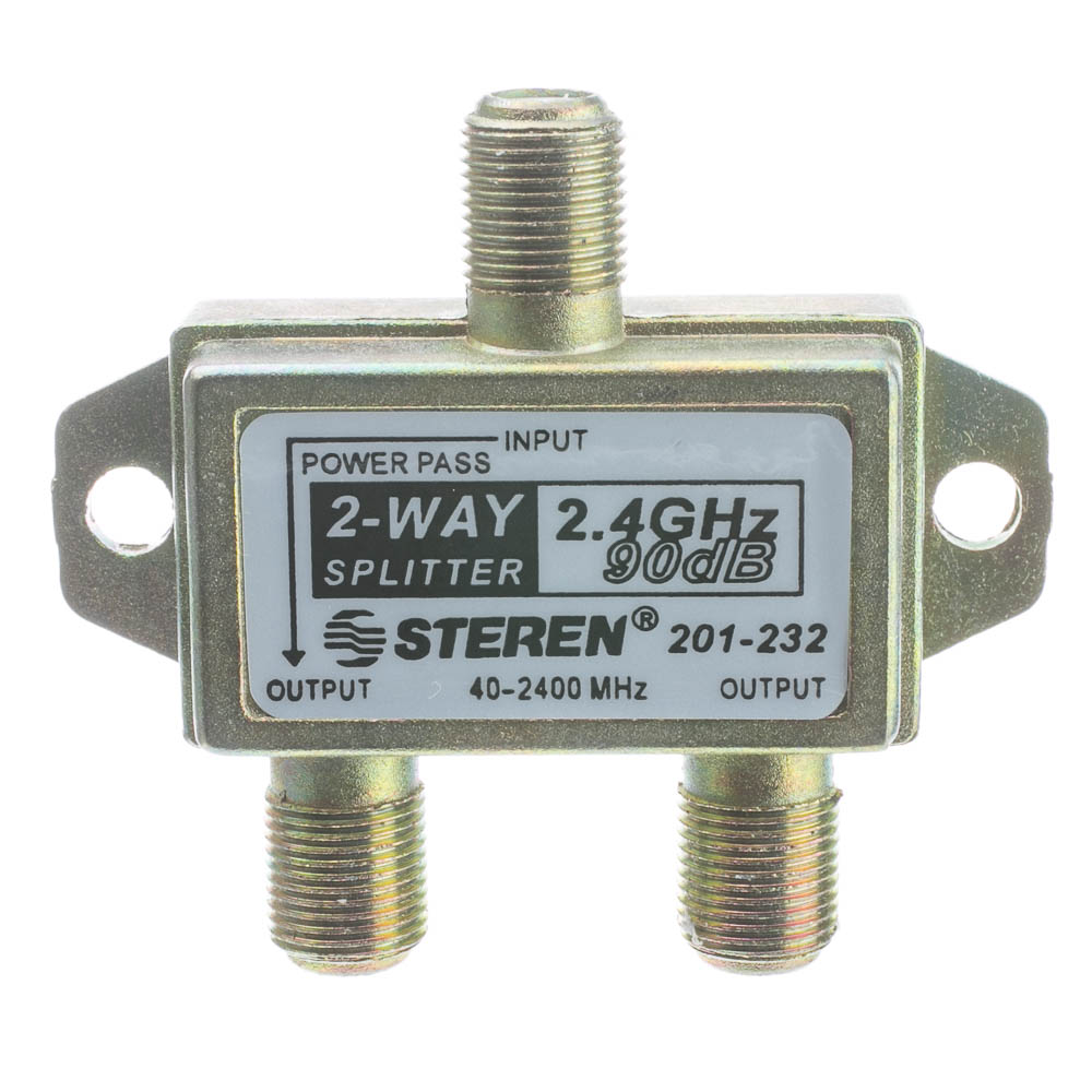 2 Way Coaxial Splitter Ghz 90db 1 Dc Passing F Coax To Vga Wiring Diagram Pin 90 Db