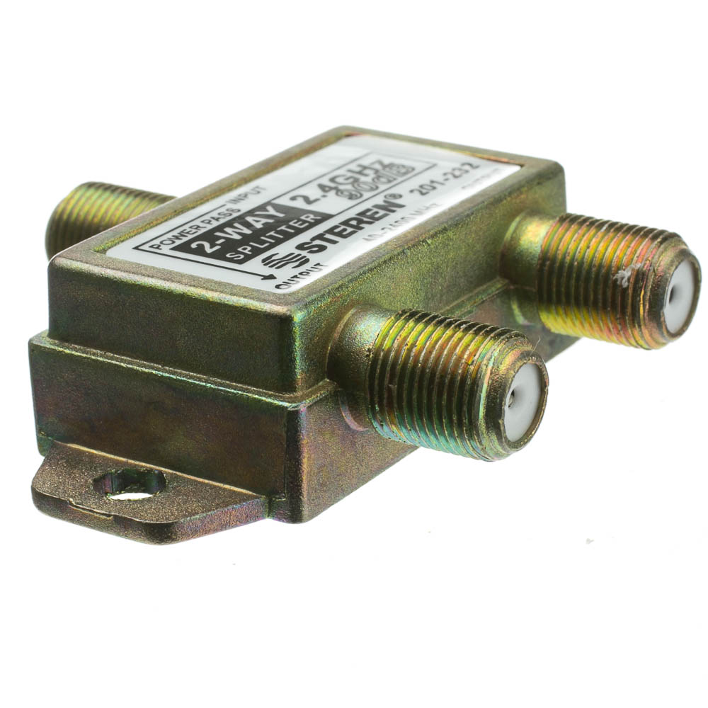 2 Way Cable Splitter : Way coaxial splitter ghz db dc passing