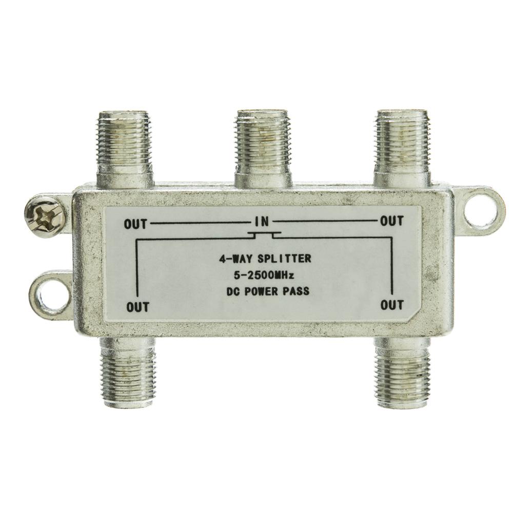 4 Way Coaxial Splitter 2 Ghz 90db Passive