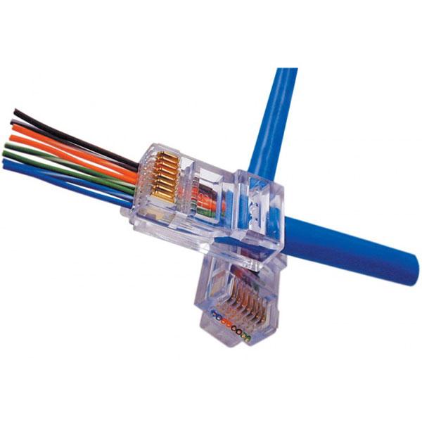 Ez Rj45 Cat5e Crimp Plugs 100 Pieces