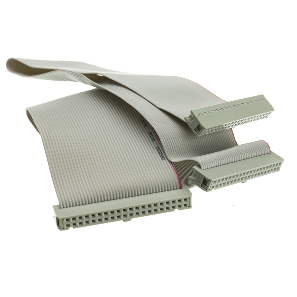 20 Inch Ide Idc 40 Internal Ribbon Cable 3 Connectors