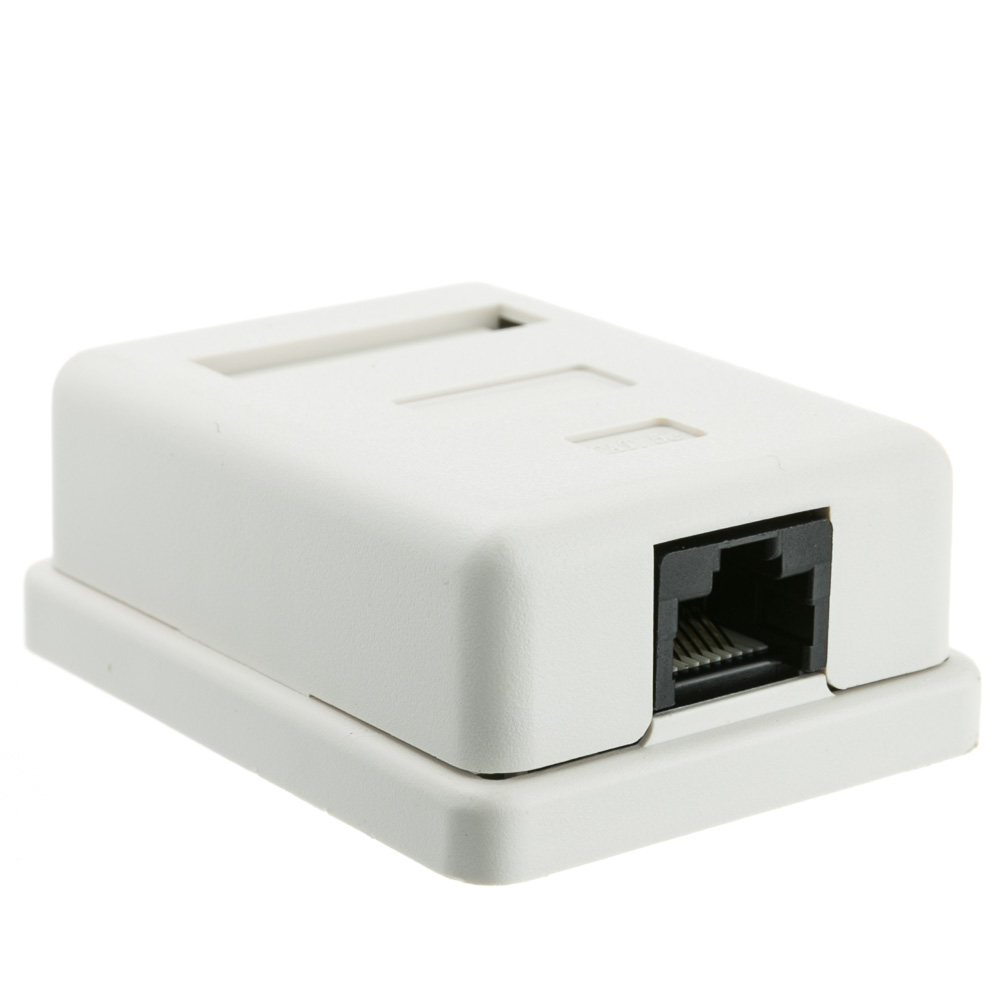 Cat5e Single Surface Mount Box Unshielded