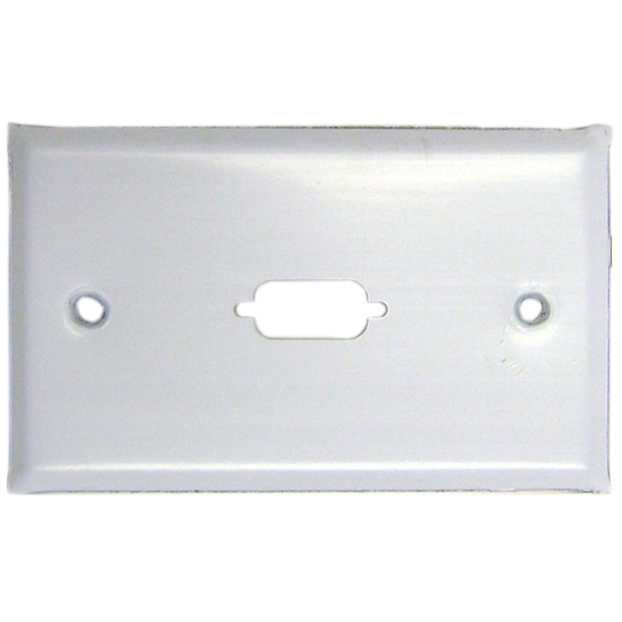 White Single Gang Wall Plate Painted Stainless Steel