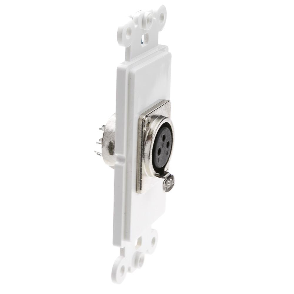 decora xlr wall plate insert female solder type white rh cablewholesale com XLR Wall Plate White XLR VGA Wall Plate