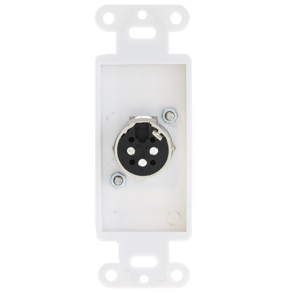 decora wall plates galvanized decora wall plate insert white xlr male to solder type part number white male