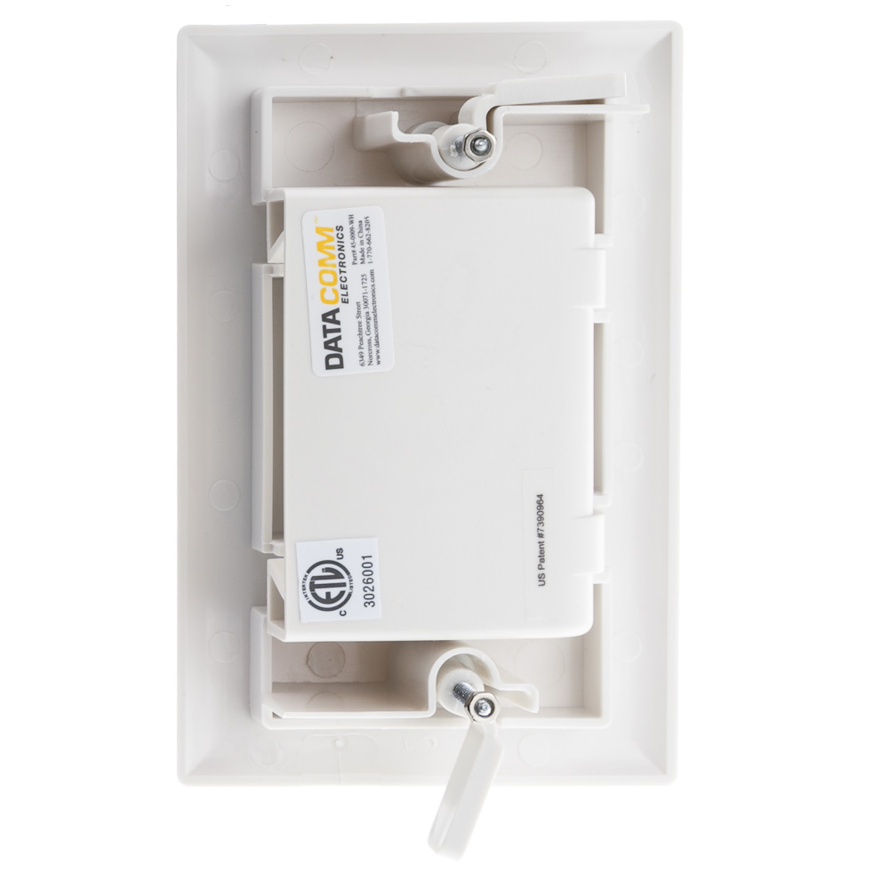 White Wall Plate Recessed Low Voltage Cable Cablewholesale