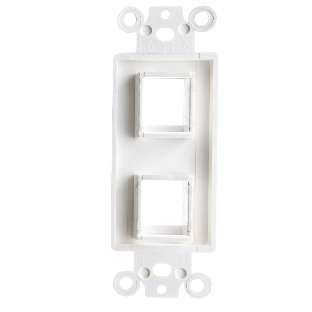 CableWholesale Decora Wall Plate Insert White Blank