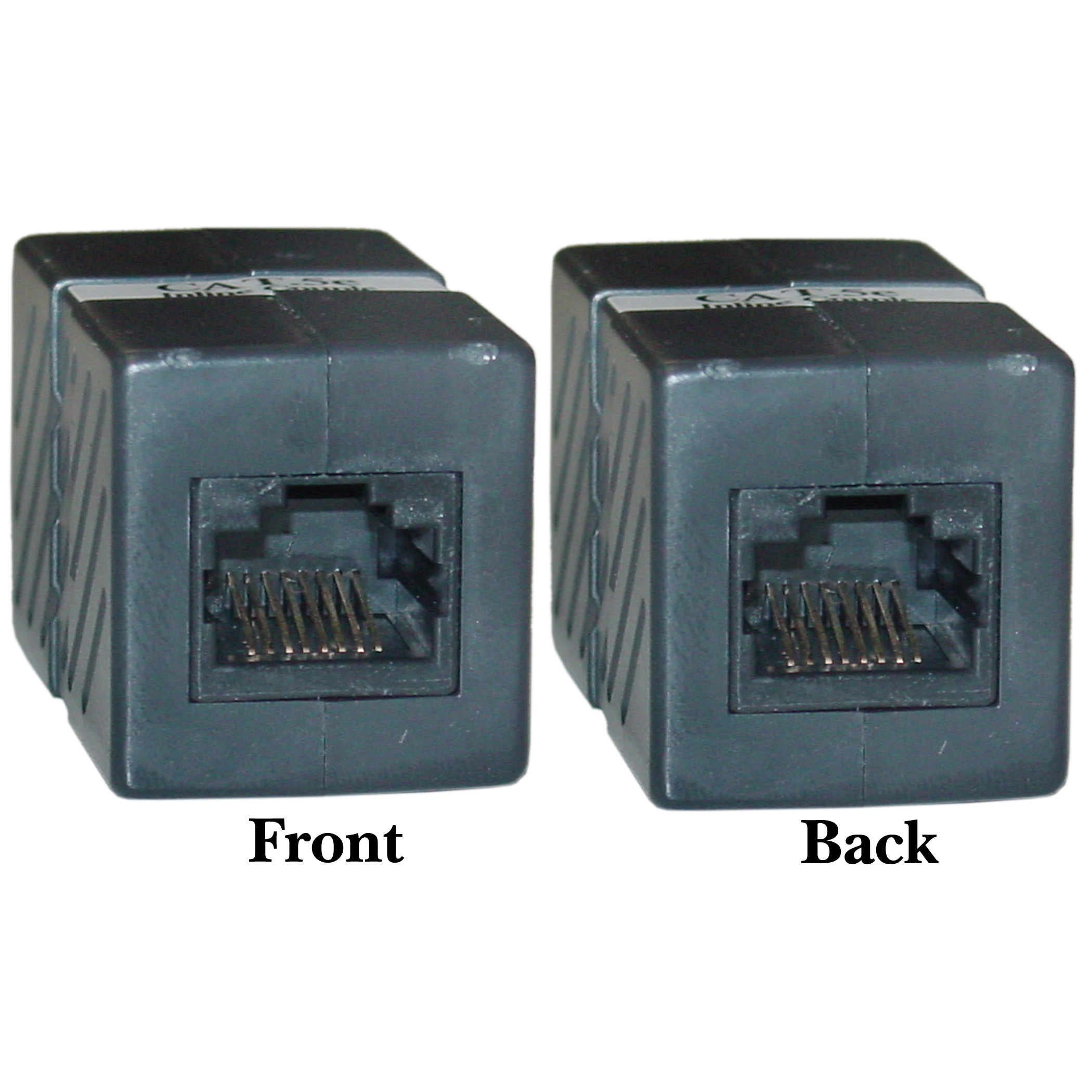Black Cat5e Inline Unshielded Coupler  Rj45 Female  Box Of