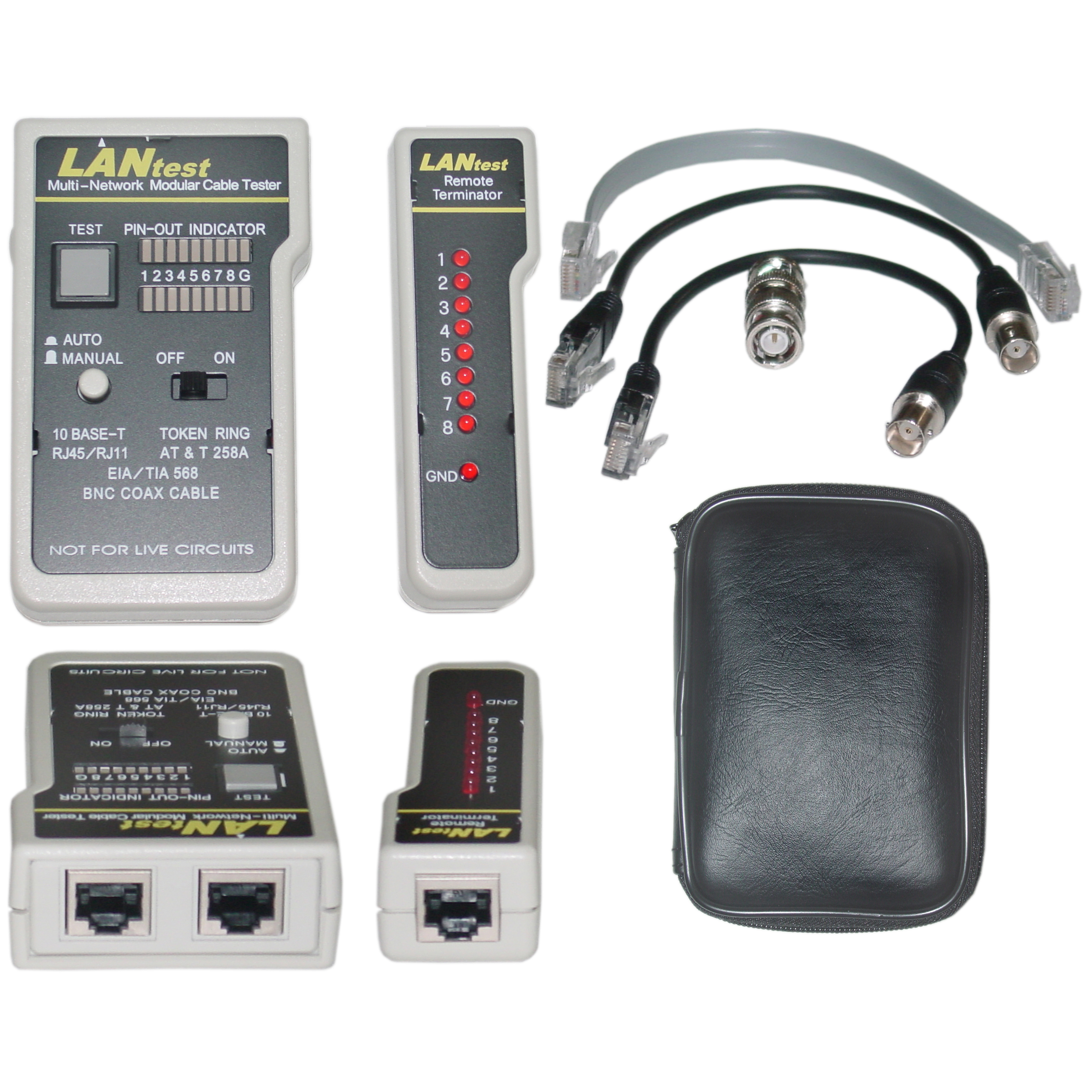 Lan Tester Network Cable tester, Pin Configuration/Wire Map