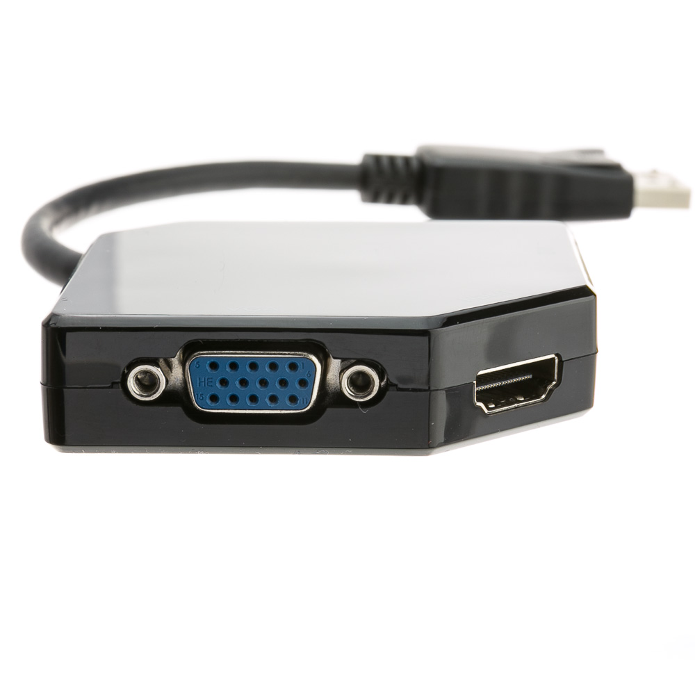DisplayPort to HDMI, VGA or DVI, 3-IN-1 Adapter