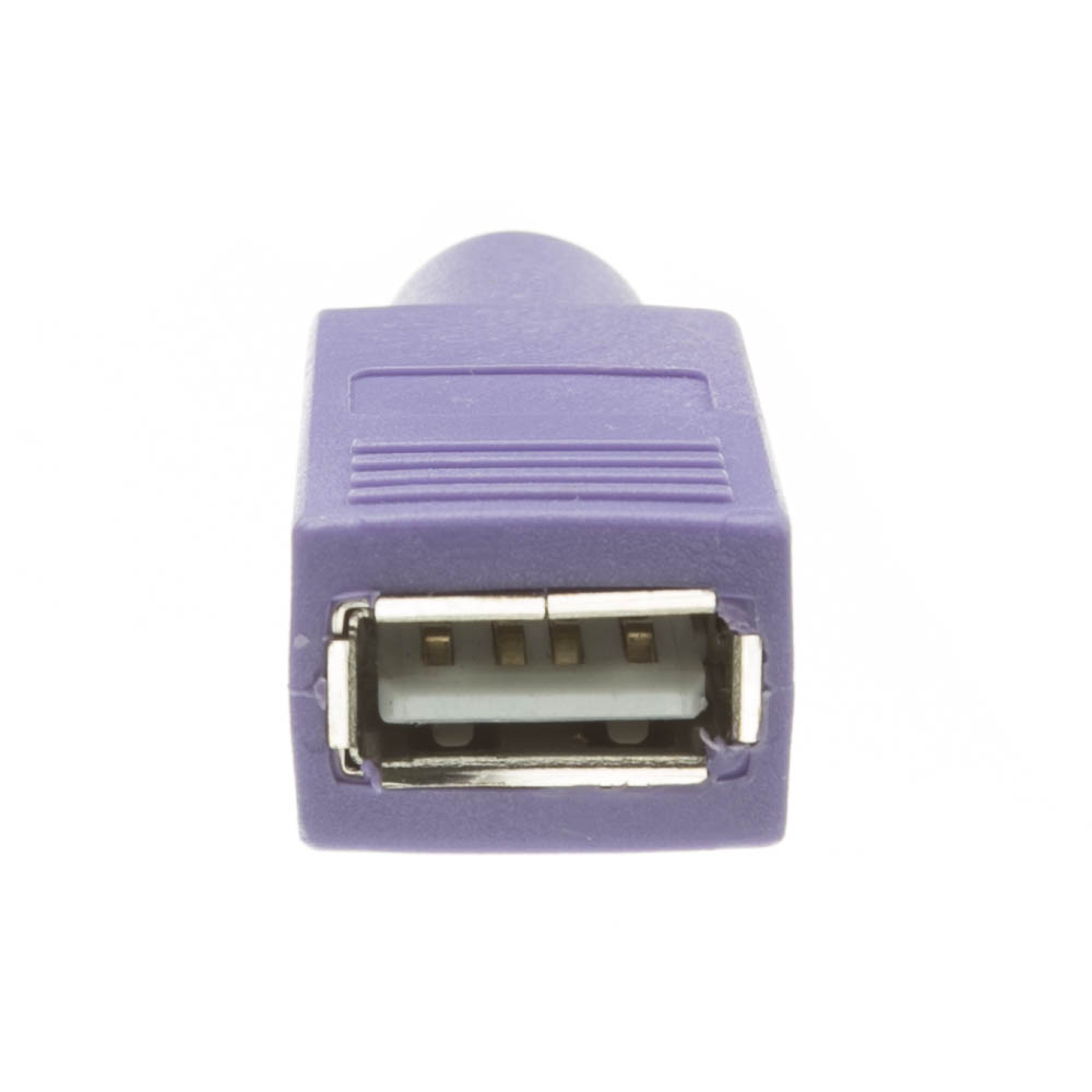 Purple Usb To Ps 2 Keyboard Mouse Adapter Converter Ps2 Type A Female