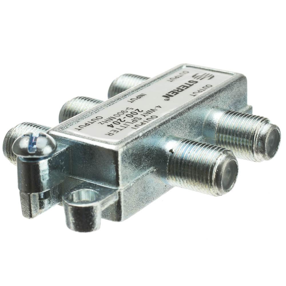Coaxial Cable Splitter : Way coax splitter mhz uhf vhf fm ota broadcast tv
