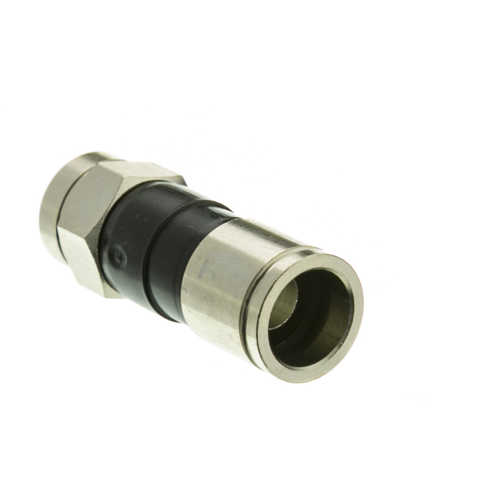 Rg6 Compression Connector Quad And Dual Shield Compatible