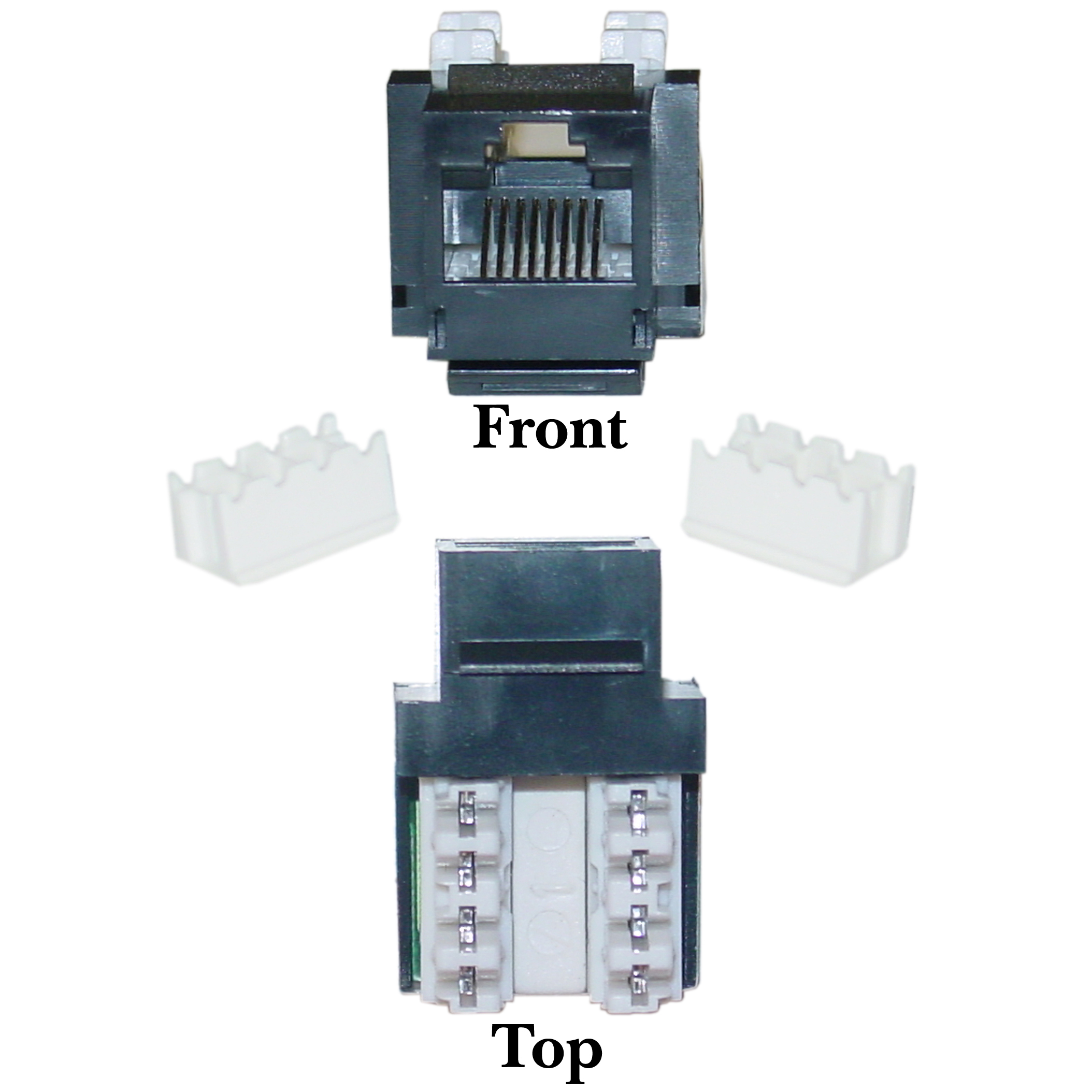 black cat5e keystone rj45 to 110 punch cablewholesale