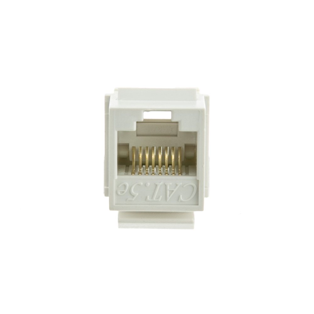 White Cat5e Keystone Rj45 Female To 110 Punch Down Punchdown Block Wiring Diagram Jack Part Number
