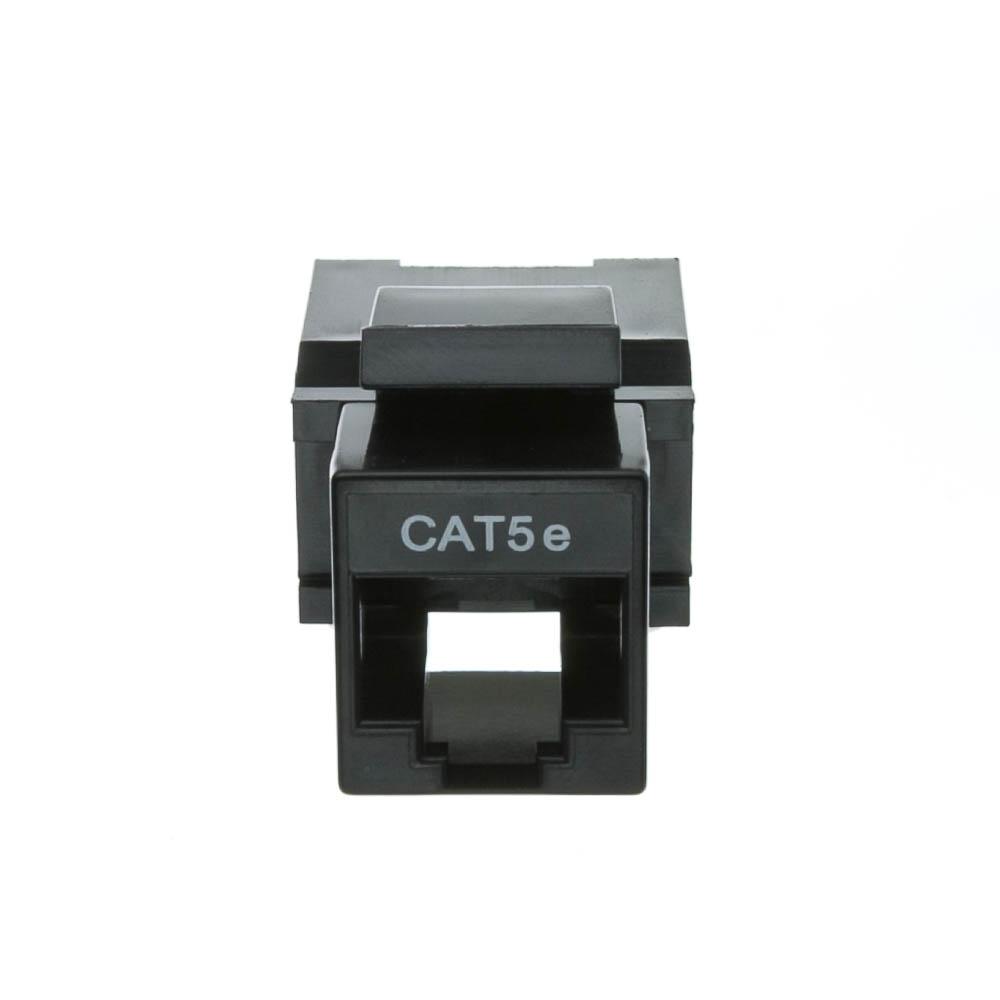 Black Cat5e Rj45 Keystone Jack Toolless Cablewholesale
