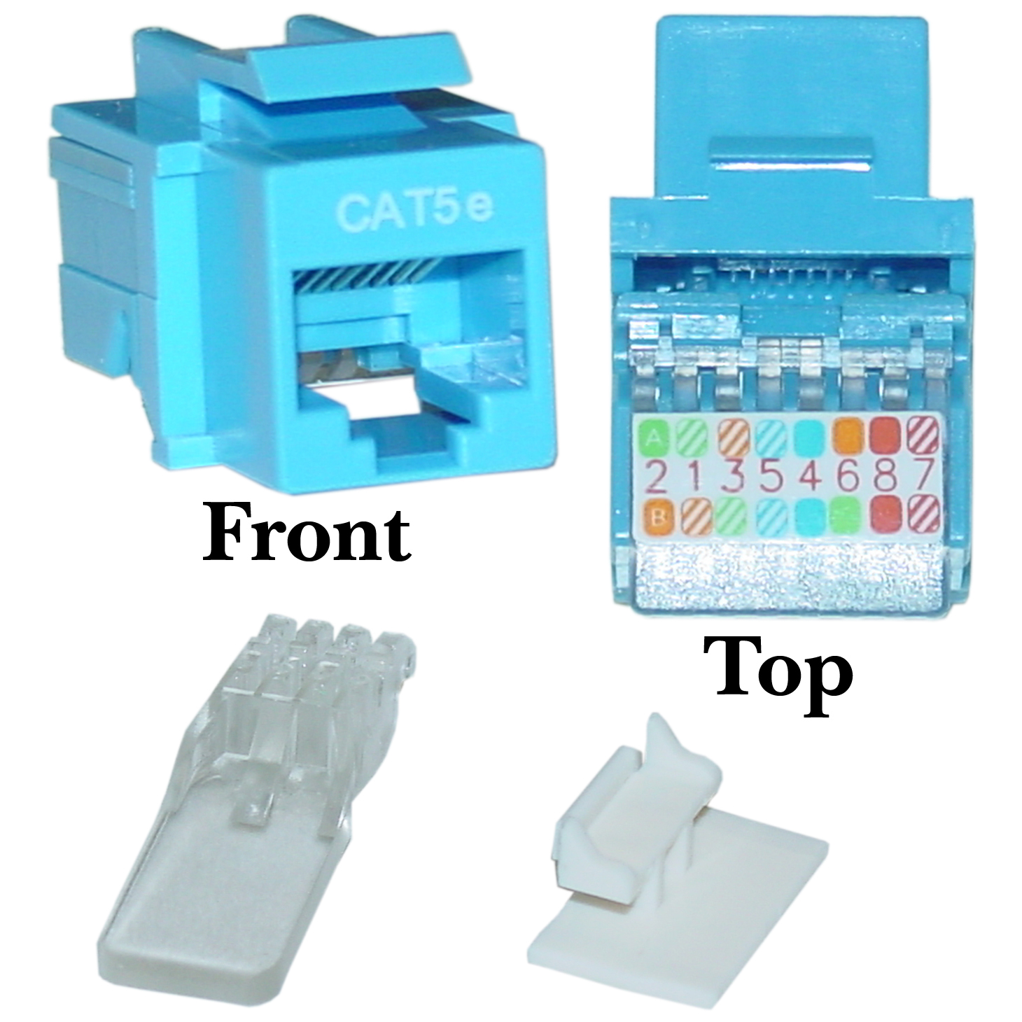 blue cat5e rj45 keystone jack, toolless leviton cat5e wiring diagram cat5e keystone jack, blue, toolless, rj45 female part number 311