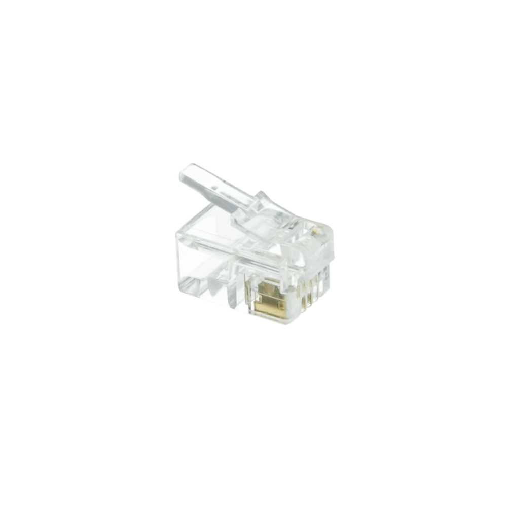Phone/Data RJ22 Crimp Connectors Flat Cable 4P4C