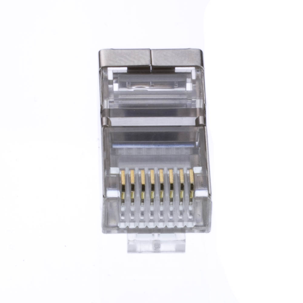 8P8C 100pcs Cat5 RJ45 Crimp Connectors for Solid and Stranded Cat5 Cable