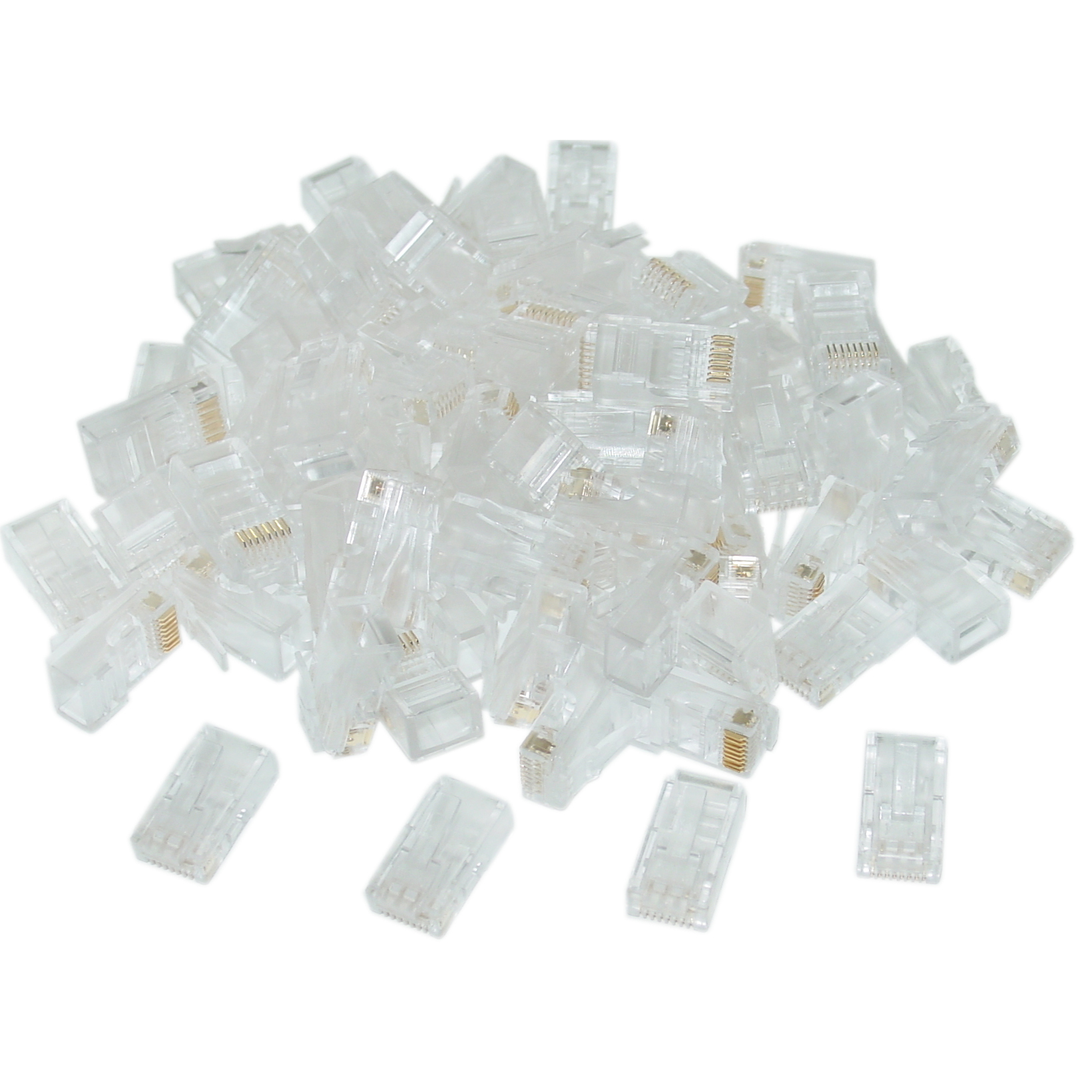 Cat5e Rj45 Bulk Crimp Connectors 100 Pieces