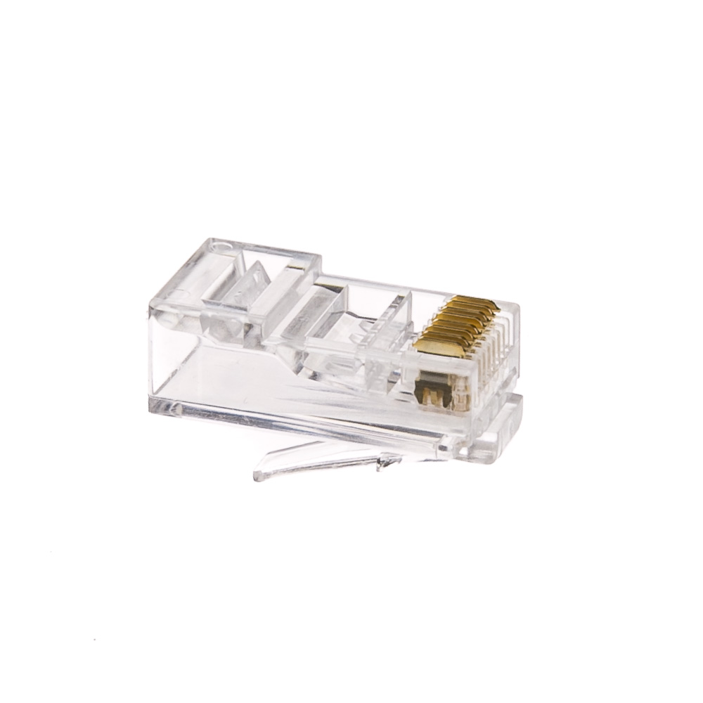 Cat6 Rj45 Crimp Connectors Solid Stranded Cable 100 Piece Wiring For And 8p8c Pieces Part