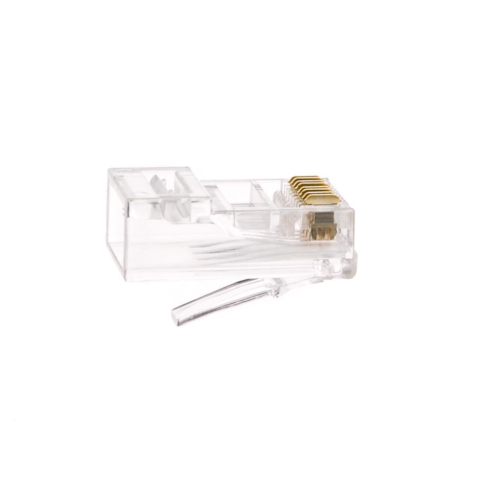 Cat6 Rj45 Crimp Connectors Solid Stranded Cable 100 Piece